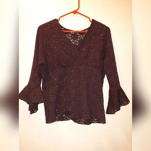 Brown lace coverup